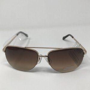 Fossil Women's Brown Aviator Sunglasses